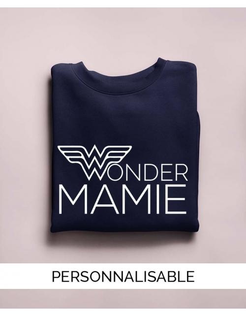 Sweat personnalisé Wonder Mamie - Pilou et Lilou