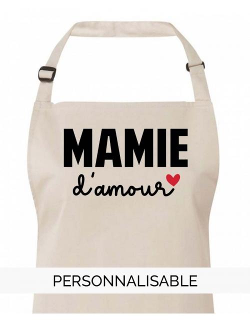 Tablier Mamie d'Amour à personnaliser Pilou et Lilou