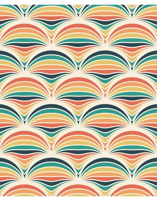 Papier Peint Vintage Rainbow