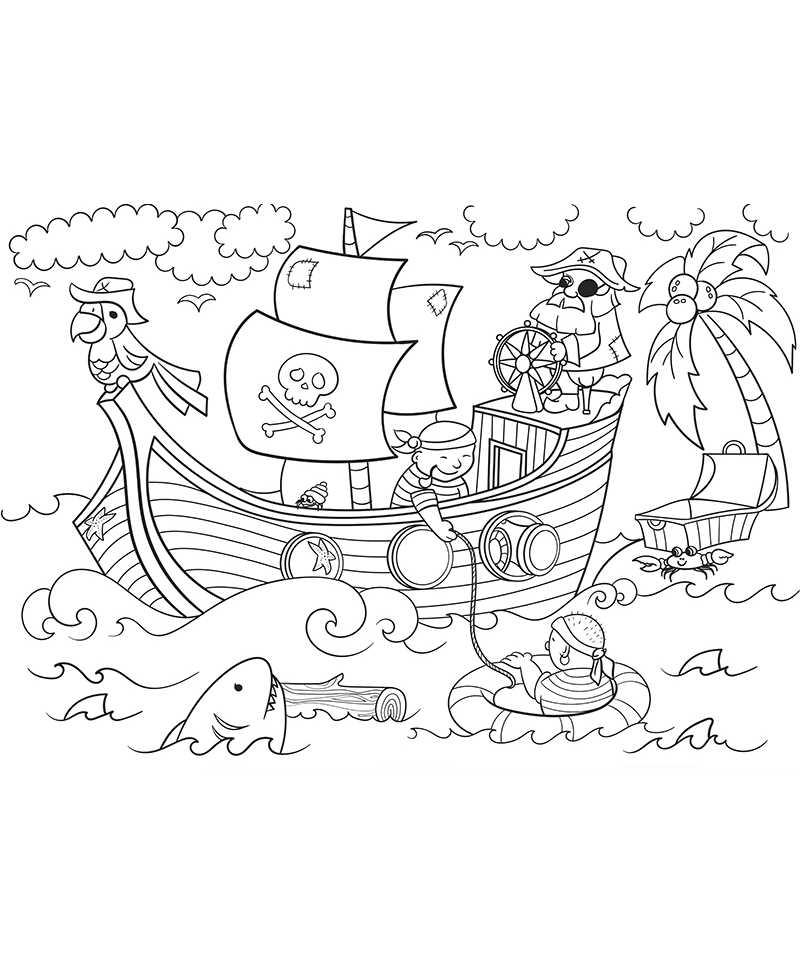 Coloriage Les Pirates
