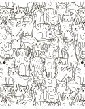 Coloriage Géant - Les Chats-Choux