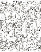 Poster à colorier Les Chats-Choux