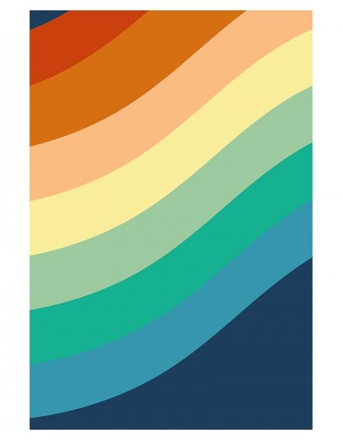 Papier Peint Panoramique Vintage Stripes