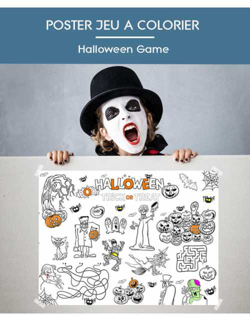 Poster à colorier Halloween Game