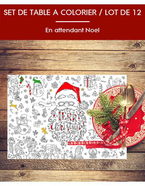 Lot de 12 sets de Table / Noel
