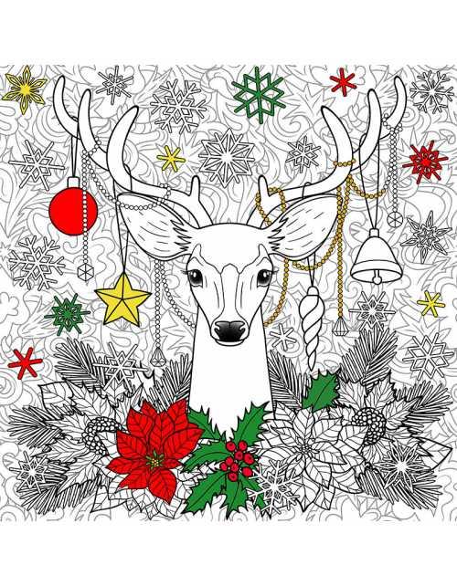 Xmas Deer / Poster à colorier