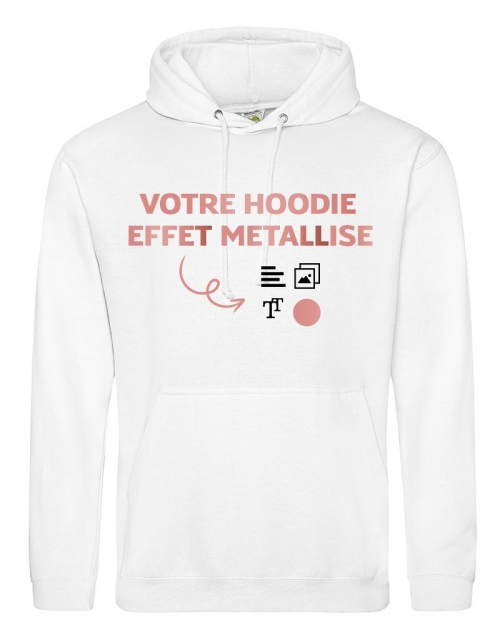 Hoodie Flocage Métallisé H/F