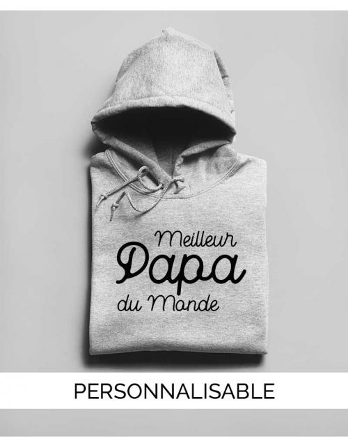 Meilleur Papa du Monde, hoodie à personnaliser, Pilou et Lilou
