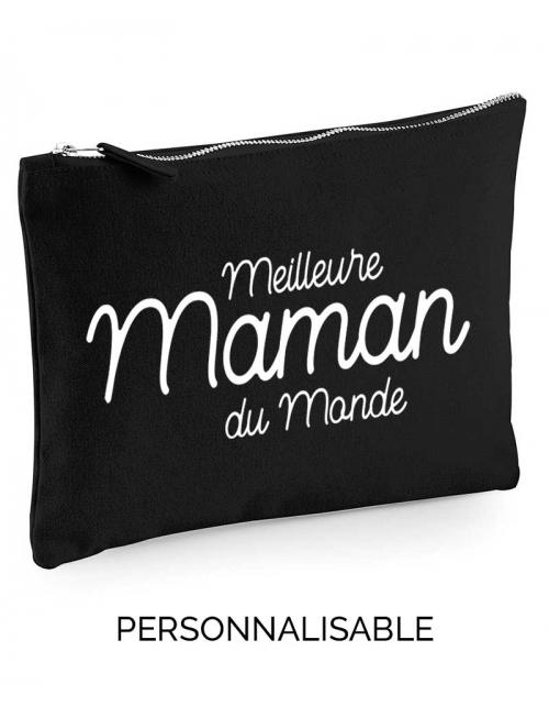 Meilleure Maman du Monde, pochette sac à main à personnaliser - Pilou et Lilou