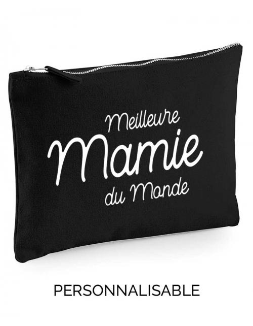 Meilleure Mamie du Monde, pochette sac à main à personnaliser - Pilou et Lilou