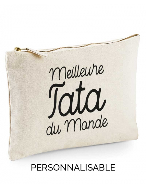 Meilleure Tata du Monde, pochette sac à main à personnaliser - Pilou et Lilou