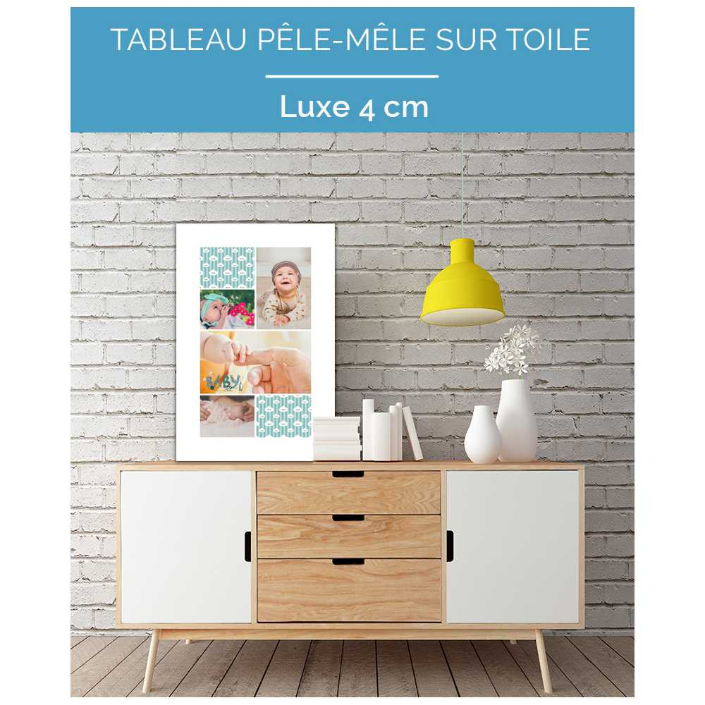 tableau personnalis p le m le sur toile ecologique luxe 4 cm. Black Bedroom Furniture Sets. Home Design Ideas