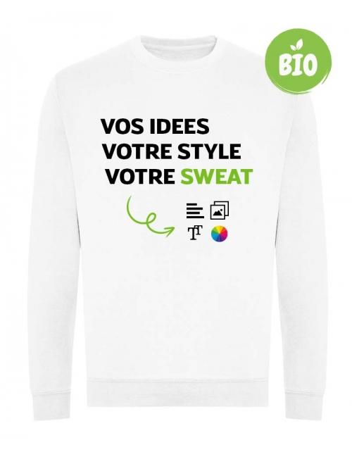 Sweatshirt bio à personnaliser - Imprimé en France - PrintMyDeco