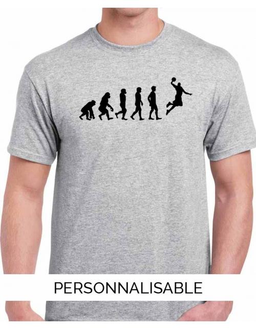 T-shirt Evolution Basket Dunk - Personnalisable - Pilou et Lilou