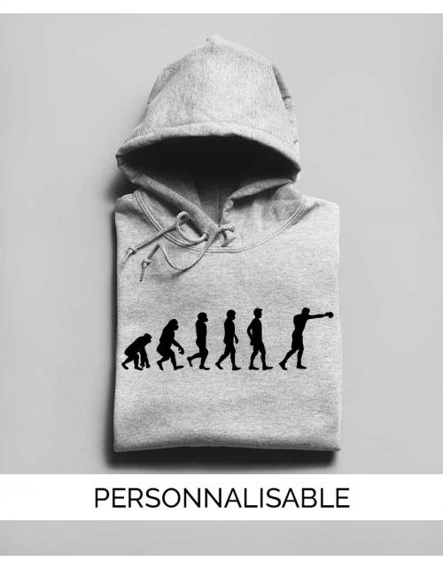 Sweatshirt Evolution Boxe Dunk - Personnalisable - Pilou et Lilou