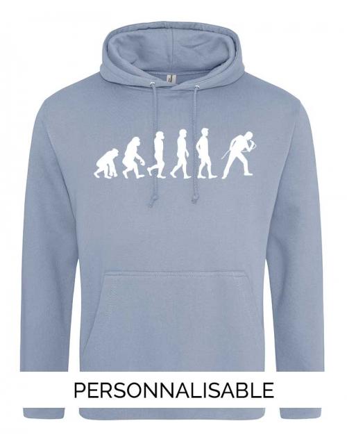 Sweatshirt Evolution Chanteur- Personnalisable - Pilou et Lilou