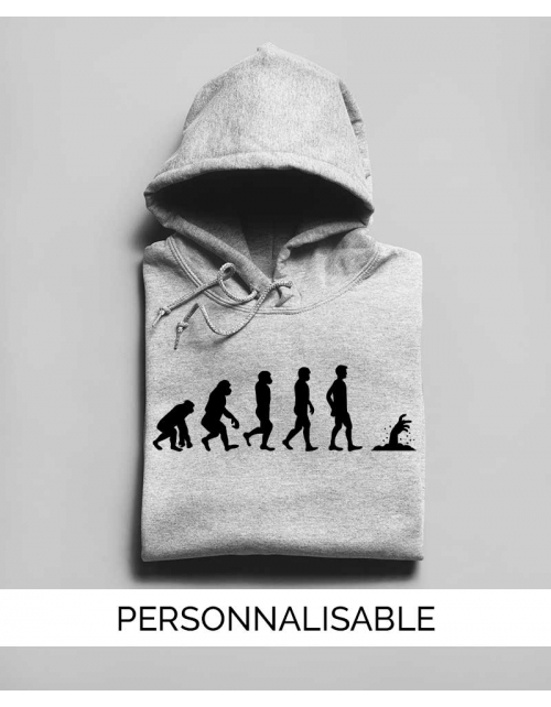 Hoodie Mort Vivant Evolution - Personnalisable - Pilou et Lilou