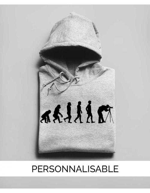 Hoodie Photographe Evolution - Personnalisable - Pilou et Lilou