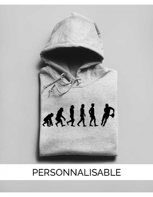 Hoodie Rugby Evolution - Personnalisable - Pilou et Lilou