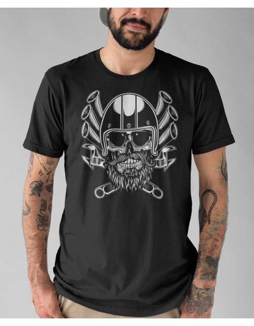T-shirt Biker Skull - Lilou et Pilou