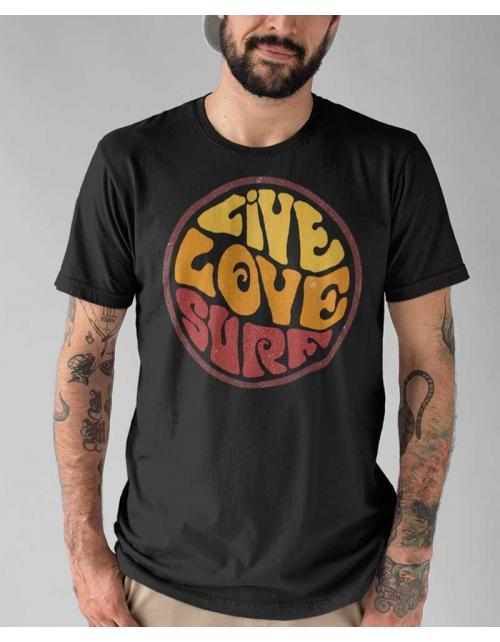 T-shirt Homme Live Love Surf