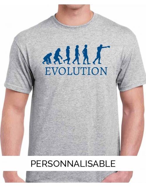 T-shirt Evolution Boxe - Personnalisable - Pilou et Lilou
