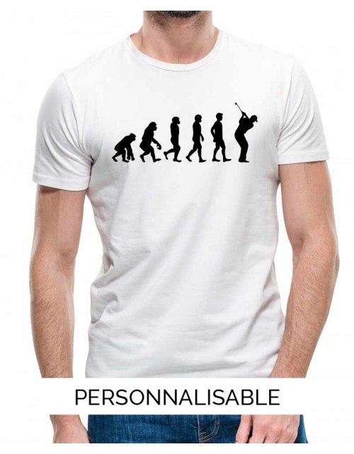 T-shirt Golf Evolution - Personnalisable - Pilou et Lilou