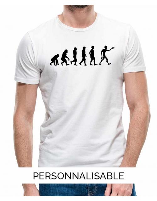 T-shirt Zombie Evolution - Personnalisable - Pilou et Lilou