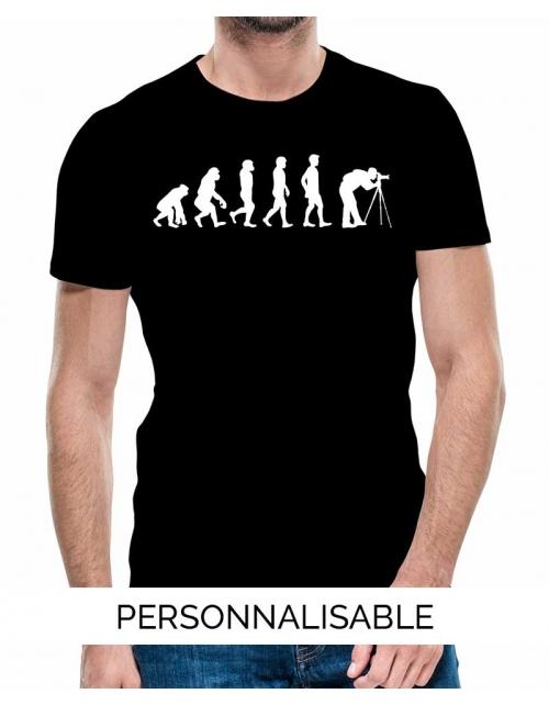 T-shirt Photographe Evolution - Personnalisable - Pilou et Lilou