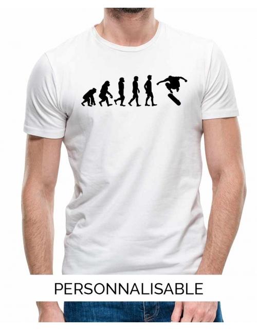 T-shirt Skate Evolution - Personnalisable - Pilou et Lilou