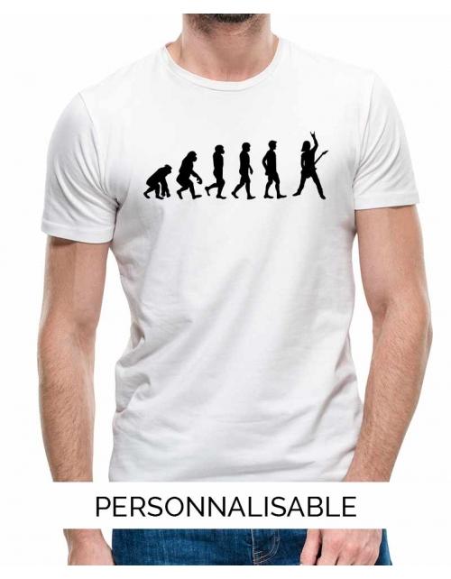 T-shirt Rock Evolution - Personnalisable - Pilou et Lilou