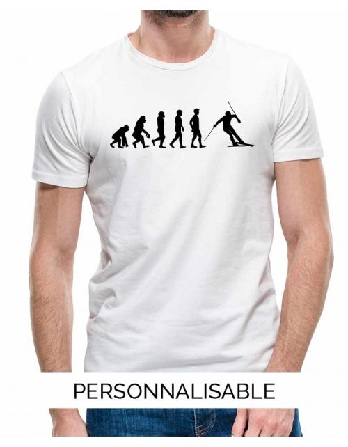 T-shirt Ski Evolution - Personnalisable - Pilou et Lilou