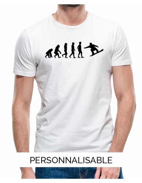T-shirt Snowboard Evolution - Personnalisable - Pilou et Lilou