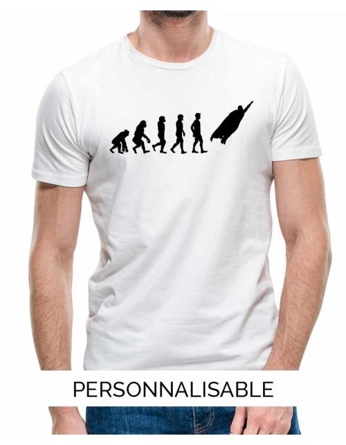 T-shirt Super Heros - Personnalisable - Pilou et Lilou