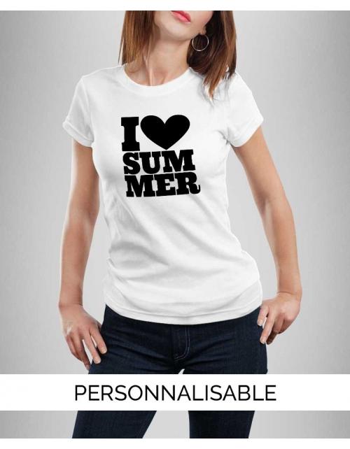 T-shirt personnalisable I Love Summer - Pilou et Lilou