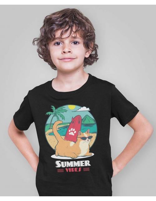 T-Shirt Summer Vibes - Surf - Pilou et Lilou