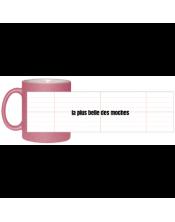 Mug Rose à paillette