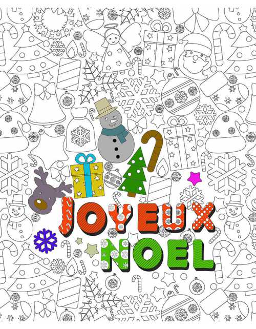 Poster à colorier Noël magique