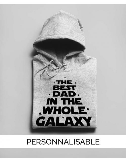 Sweat à capuche personnalisable Galaxy Dad - Pilou et Lilou