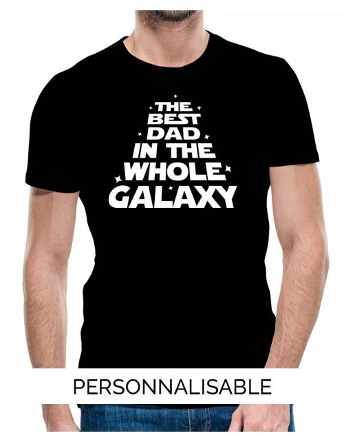 T-shirt Galaxy Dad personnalisable - Pilou et Lilou