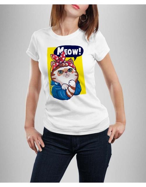 T-shirt Femme Meow!