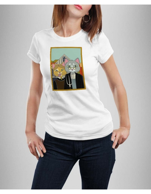 T-shirt Femme The Farm Cats