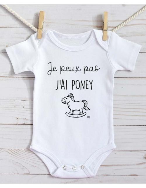 Body Bébé - Je peux pas j'ai Poney