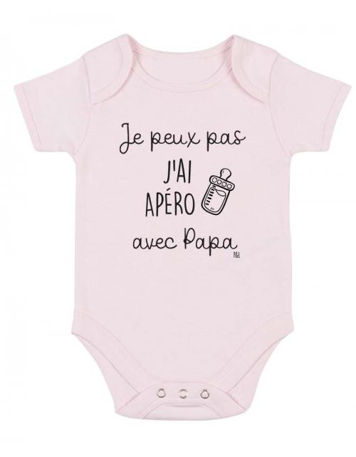 Body Bébé - Je peux pas j'ai Apéro avec Papa