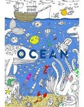 Coloriage géant Océan