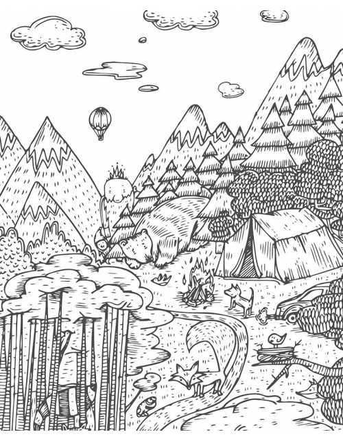 Coloriage - Forêt Enchantée
