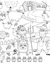 Coloriage - A la ferme