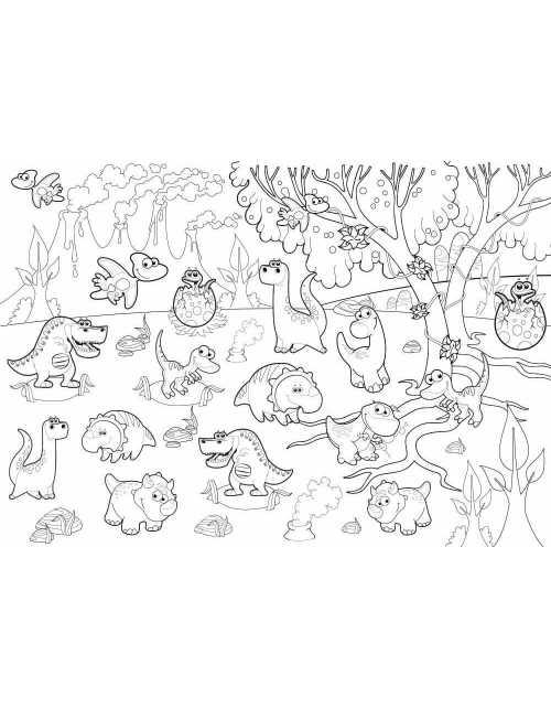 Coloriage - Dinosaures