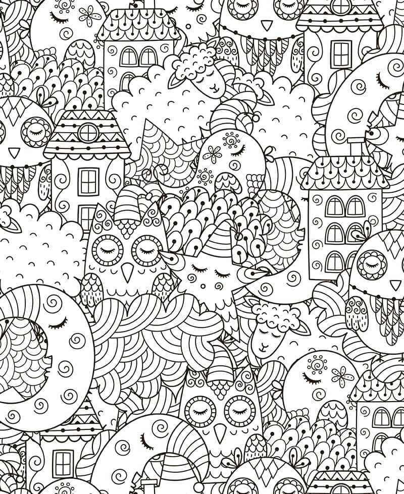Coloriage - Sweet Dreams