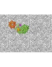 Coloriage - Fleurs & Abeilles